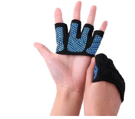 Four fingers open top palmless glove