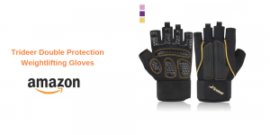 Trideer Double Protection  Weightlifting Gloves