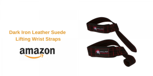 Dark Iron Leather Suede Lifting Wrist Straps